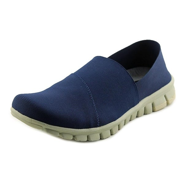NoSox Stretch Men  Round Toe Synthetic Blue Loafer