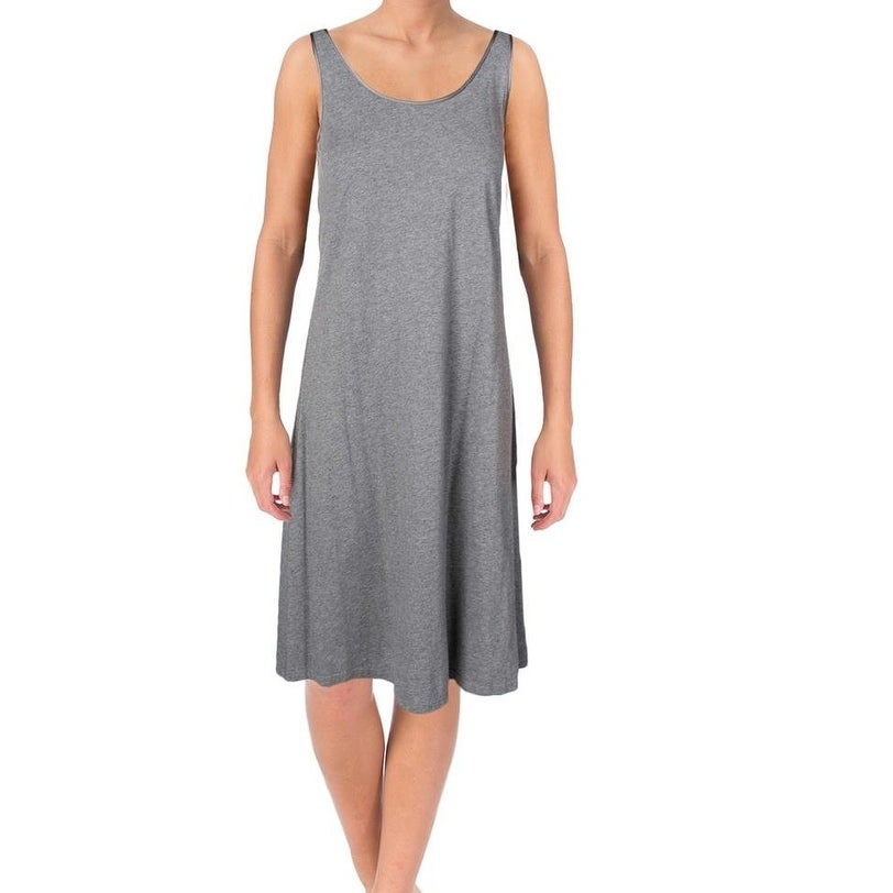 Lord & Taylor NEW Charcoal Gray Womens Size 1X Plus Nightgown Sleepwear
