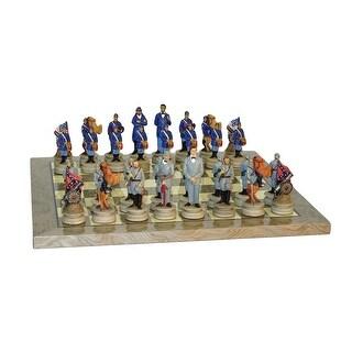 Civil War Generals Chess Set Grey Briar Board - Multicolored