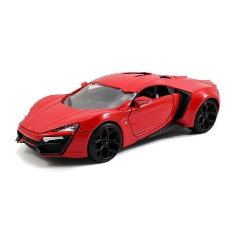 Fast & Furious 1:24 Diecast Vehicle: Red Lykan Hypersport - Multi
