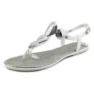 Bandolino Loocho Women Open Toe Synthetic White Thong Sandal