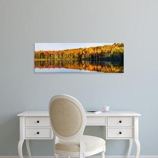 Easy Art Prints Panoramic Image 'Trees, Pete's Lake, Schoolcraft County, Upper Peninsula, Michigan' Canvas Art