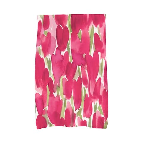Tulip Blossom 18 x 30 inch Floral Hand Towel