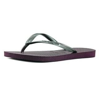 Havaianas Slim Women  Open Toe Synthetic Purple Flip Flop Sandal