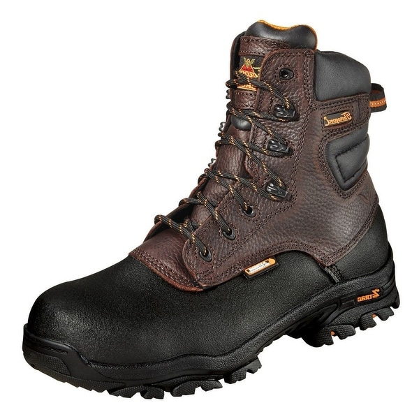 "Thorogood Work Boots Mens 7"" Waterproof Z-Trac CT Brown 804-4808"