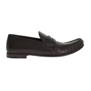 Dolce & Gabbana Gray Leather Loafers Shoes