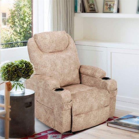TiramisuBest Electric Recliner Chair Heated PU Leather Lounge Chair