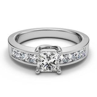 Link to 14K White Gold 1.00 CT Channel Princess Diamond Engagement Bridal Ring Similar Items in Wedding Rings