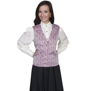 Scully Old West Vest Womens Formal Rose Vine Button Polyester RW588|https://ak1.ostkcdn.com/images/products/is/images/direct/422941a545e5ce086156dda1e486a6aac572a8a0/Scully-Old-West-Vest-Womens-Formal-Rose-Vine-Button-Polyester-RW588.jpg?impolicy=medium
