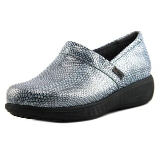 Softwalk Meredith Women Round Toe Leather Blue Clogs