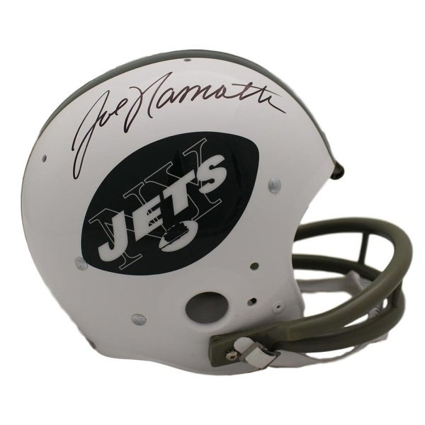 8f91f5692a5 Shop Joe Namath Autographed New York Jets TK Helmet JSA - Free Shipping  Today - Overstock.com - 22390150