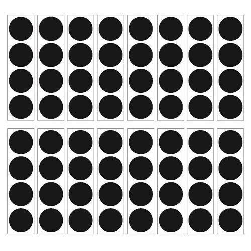 Brewster WPD1560 Matte Black Confetti Dot Decals