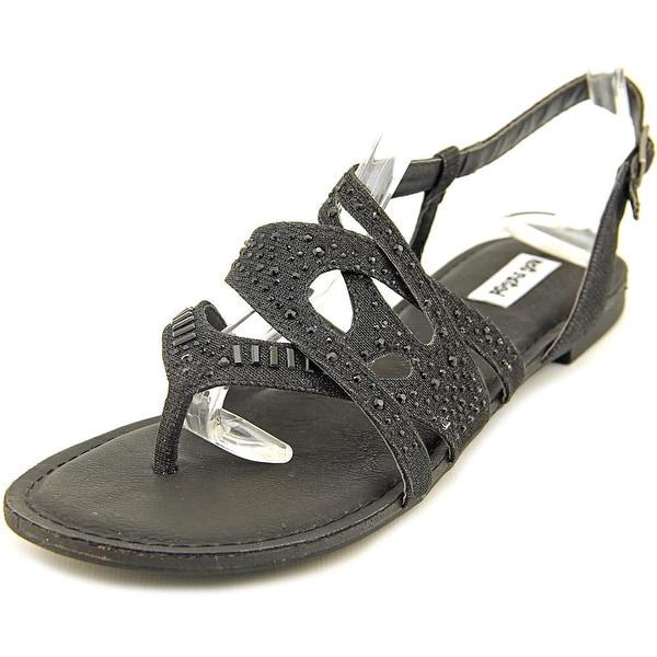Not Rated Bastin Women Open-Toe Canvas Black Slingback Sandal