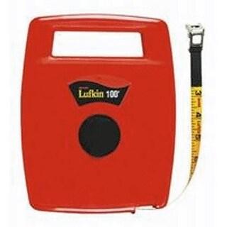 """Lufkin 706L Hi-Viz Orange Closed Reel Linear Fiberglass Tape, 1/2"""" x 100'"""