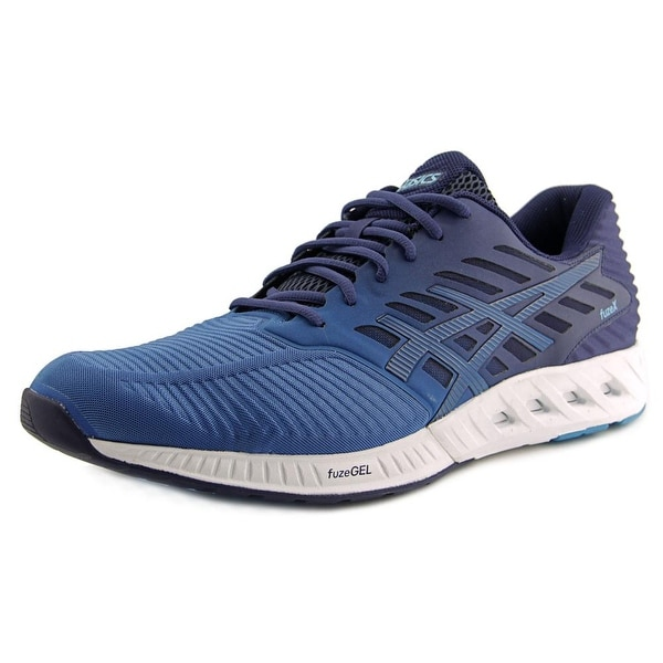 Asics FuzeX Men Round Toe Synthetic Blue Running Shoe