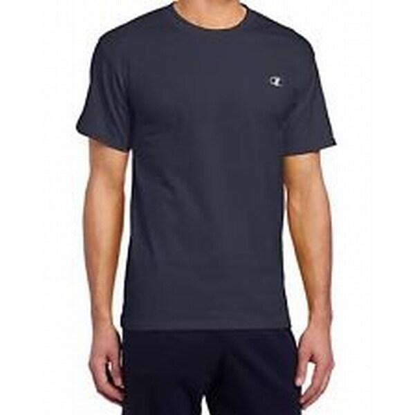 7baf6b2f Champion NEW Navy Blue Mens Size Large L Short Sleeve Crewneck Tee Shirt