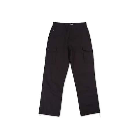 LRG Mens RC Ripstop Casual Cargo Pants, Black, 42W x 32L