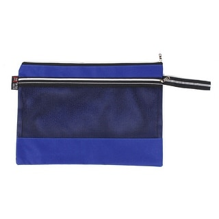 School Office Canvas Paper Document Protective File Bag Storage Holder Dark Blue