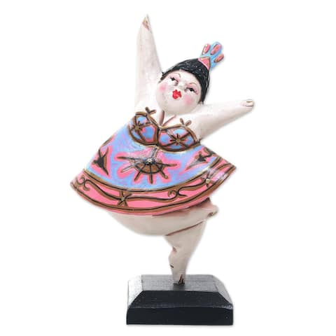 Novica Handmade Ballet Dancer Iv Wood Statuette