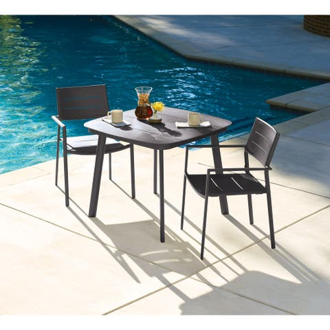 Eila 3-piece Carbon Dining Table Set by Havenside Home