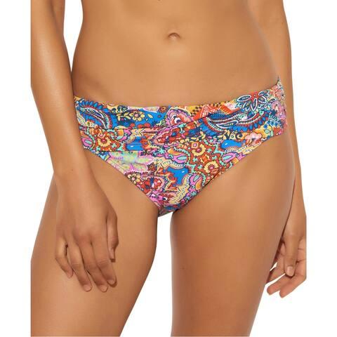 Bleu Rod Beattie Womens Foldover Runched Swim Bottom Separates - Multi