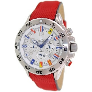 Nautica Men's N24515G Red Resin Quartz Dress Watch