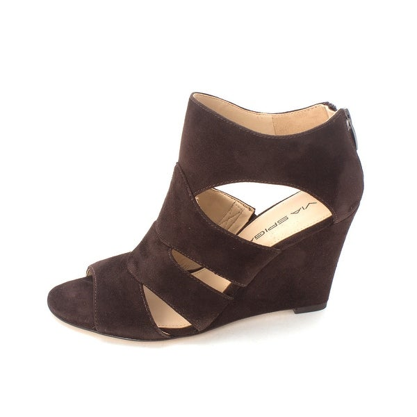Via Spiga Womens Fion Suede Open Toe Casual Strappy Sandals