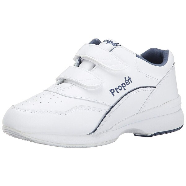 Propét Womens tour walker strap Leather Low Top Slip On Walking Shoes