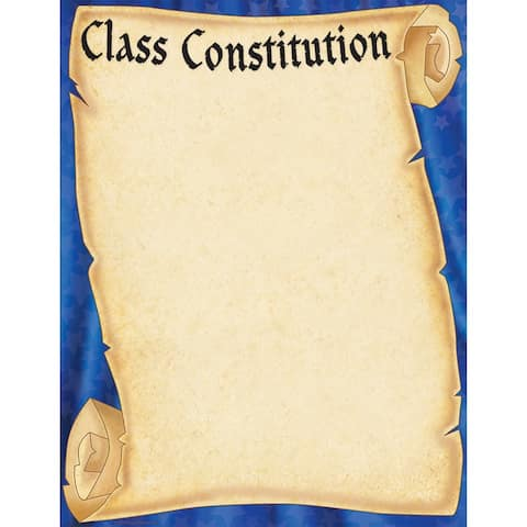 Class Constitution (scroll) Chart