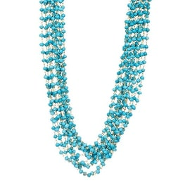 Sterling Silver Multi Strand Turquoise Necklace