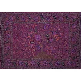 Handmade 100% Cotton Tree of Life Tapestry Tablecloth Bedspread Beach Sheet Dorm Decor Burgundy Twin 70x104 Full 88 x106 Blue