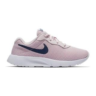 Nike Girl's Tanjun Shoe Barely Rose/Navy/White Size 3 M Us