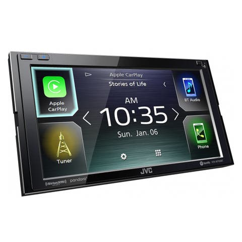 "JVC KW-M750BT 6.8"" Digital Media Receiver w/ Apple CarPlay and Android Auto - Black"