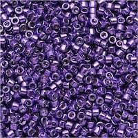 Miyuki Delica Seed Beads 11/0 - Galvanized Purple Dyed DB430 7.2 Grams