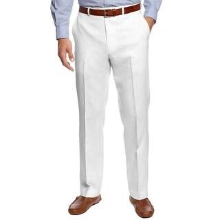 Lauren Ralph Lauren Pants 38x32 Classic Fit Flat Front White Cotton Trousers