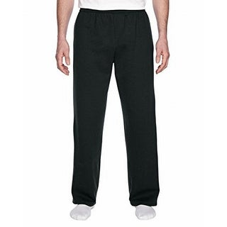 Fruit Of The Loom NEW Black Mens Size Small S Drawstring Pants Stretch 551