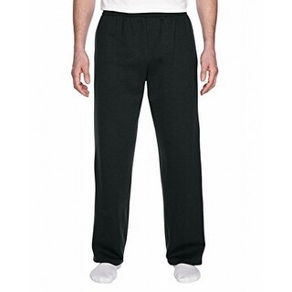Fruit Of The Loom NEW Black Mens Size Small S Pull-On Casual Pants Stretch 550