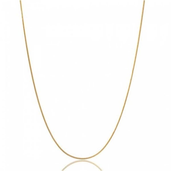 e4dca47e10d35 Thin Snake Link Chain 1.5 mm 025 Gauge Women Necklace 14K Gold Plated  Sterling Silver Made In Italy 14 16 18 20 24 Inch