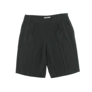 DKNYC Womens Crepe Pleated Bermuda Shorts
