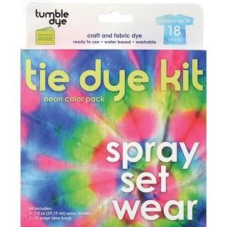 Tumble Dye Craft & Fabric Tie-Dye Kit 2oz 3/Pkg-Neon - Pink
