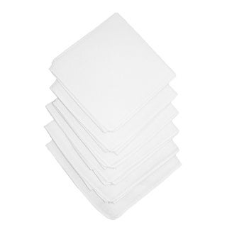 Axxents Cotton White Handkerchiefs (Pack of 6), White - One Size