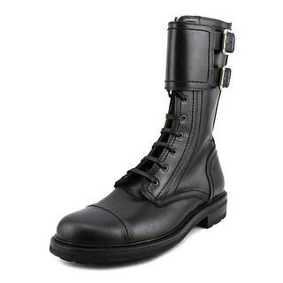 Dolce & Gabbana Franzi Round Toe Synthetic Boot