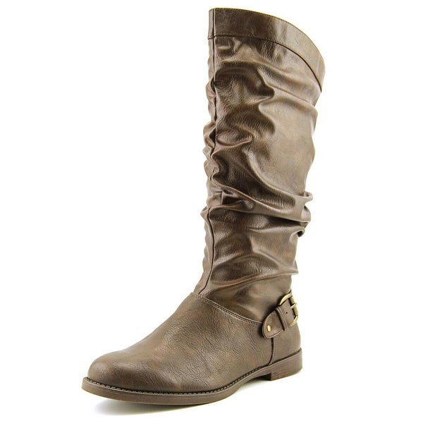 Easy Street Vigor Plus Women Round Toe Synthetic Brown Mid Calf Boot