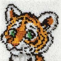 """Tiger Cub - Wonderart Latch Hook Kit 12""""X12"""""""