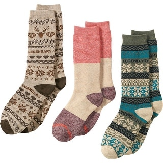 Legendary Whitetails Ladies Toasty Toes 3-Pack of Socks - winter heather - One size