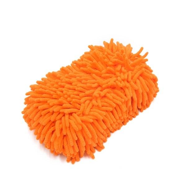 22 x 14 x 6cm Orange 8 Shaped Microfiber Chenille Cleaning Sponge for Car Auto