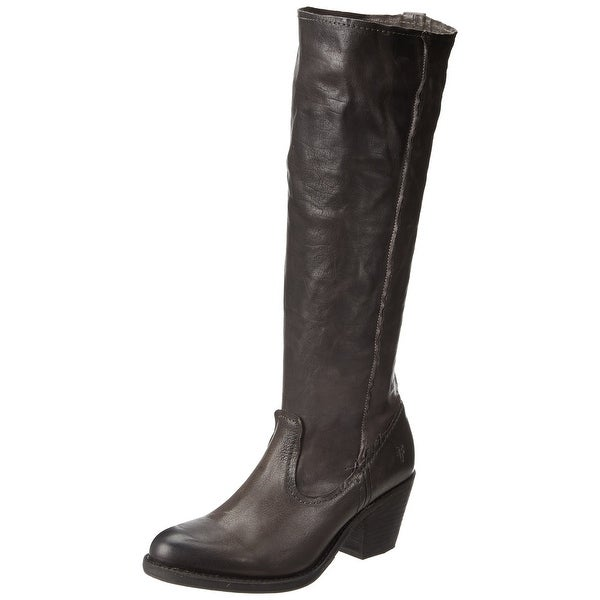 Frye NEW Gray Leslie Artisan Shoes 5.5M Knee-High Leather Boots