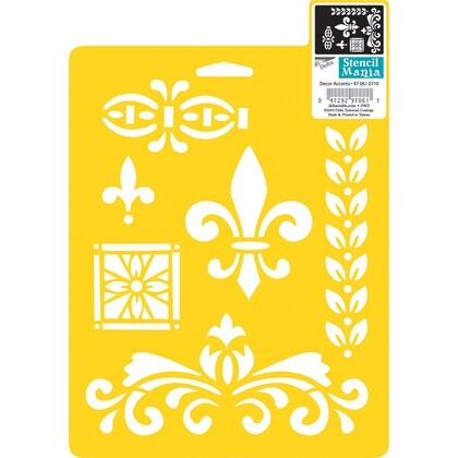 "Stencil Mania Stencil 7""X10""-Decor Accents"