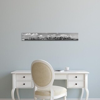 Easy Art Prints Panoramic Images's 'City at the waterfront, New York City, New York State, USA' Premium Canvas Art
