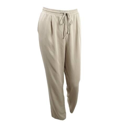 Karen Kane Women's Drawstring Soft Pants (M, Khaki) - Khaki - M